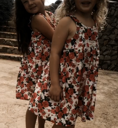 Meha and Gabs in their Roses are Red Dresses